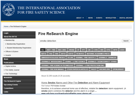 IAFSS Launches Federated Search Tool for Fire Research