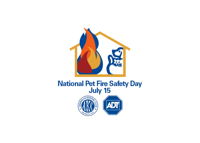 July 15 is US National Pet Fire Safety Day