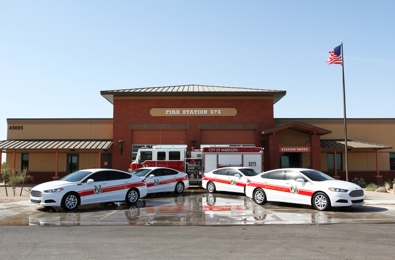 City of Maricopa Fire Department adds 4 fuel-efficient Ford Fusions to fleet