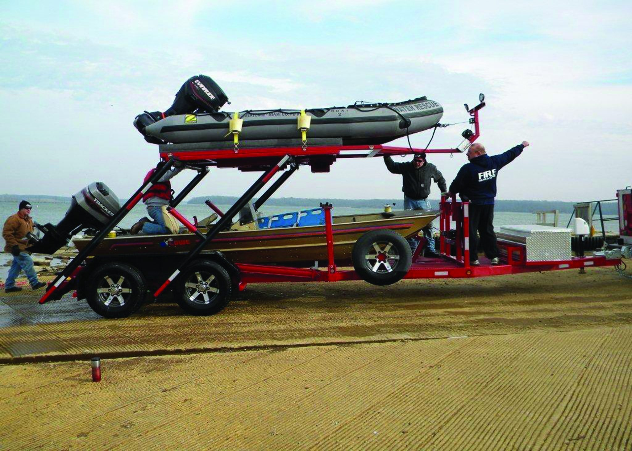 Stacker Trailer Improves Water Rescue Response Time