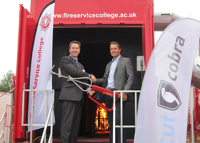 (left to right) Jez Smith, managing director, Fire Service College and Peter Oom, chief executive officer, Cobra Coldcut Systems