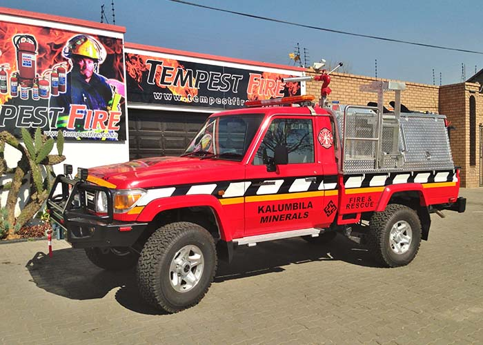 Aerodrome Crash Rescue Vehicle for Quantum Minerals Limited_Tempest Fire Services_First Attack