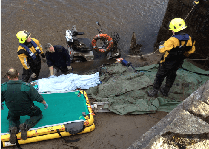 Difficult rescue for Cornwall Fire and Rescue Service