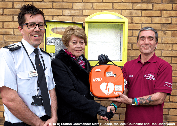 Fire station launches community-funded defibrillator