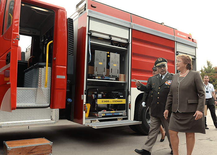 Magirus delivers 40 fire engines to Chile