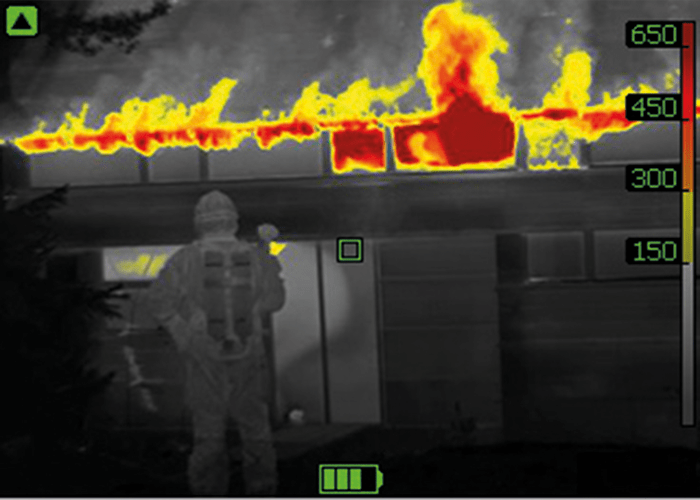 FLIR firefighting cameras with ultra-sharp thermal image