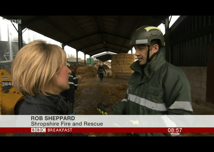 BBC TV Breakfast News features Shropshire Firefighters