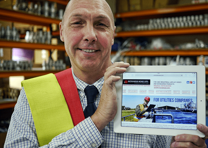 Web Traffic boost for Lancashire Hose Makers