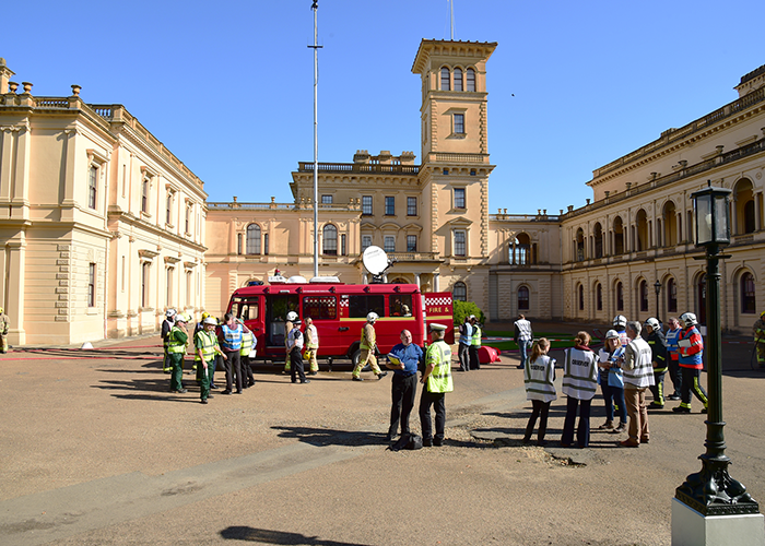 Successful major fire exercise at Osborne House