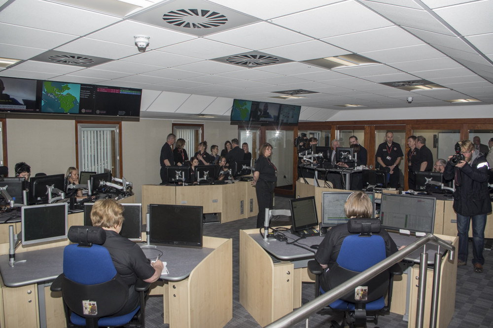 The Scottish Fire and Rescue Service (SFRS) unveils its refurbished control room in Edinburgh.