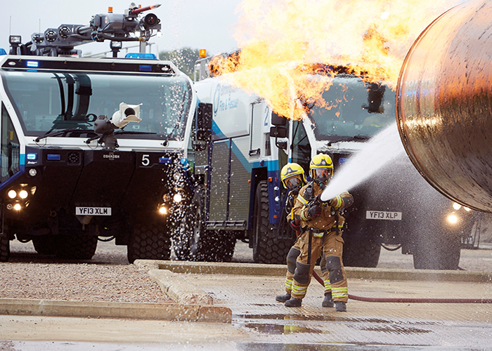 Birmingham Airport firefighters are ready to respond to major incidents.