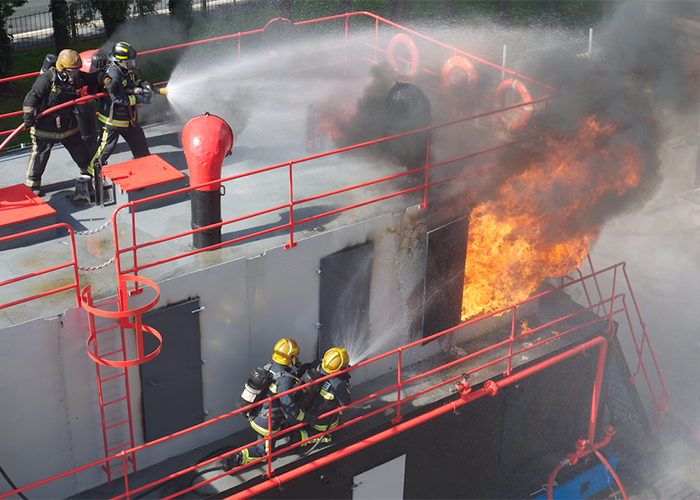 Red One's Maritime Fire Fighting Training School