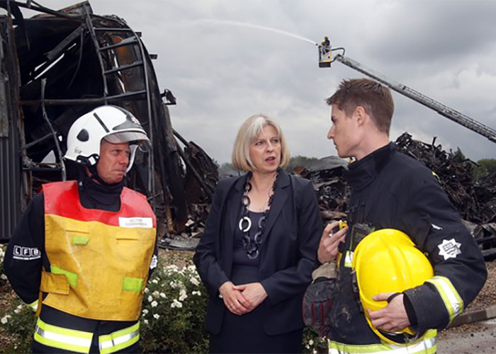 UK GOVERNMENT ANNOUNCES SHAKE UP OF FIRE SERVICES