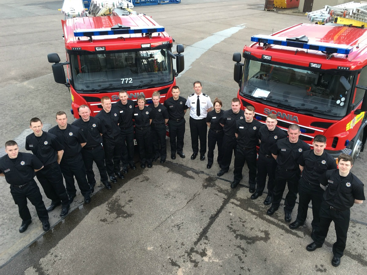 Trainee firefighters welcomed on first day