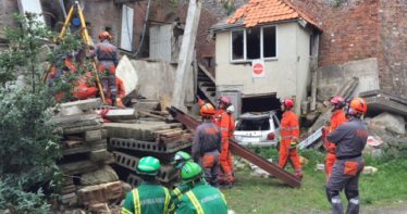 An earthquake exercise has been held by the University of Portsmouth and Hampshire Fire and Rescue Service.