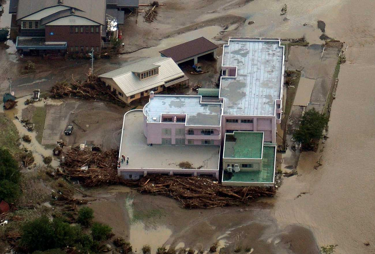 Nine people killed in flooded Japanese old people's home