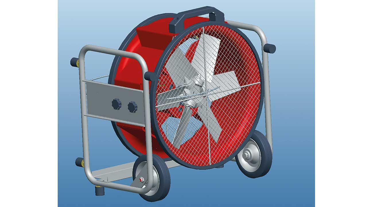 Figure 1: The PPV fan VM 400 Dex – Model from Russwurm Ventilatoren, Germany.