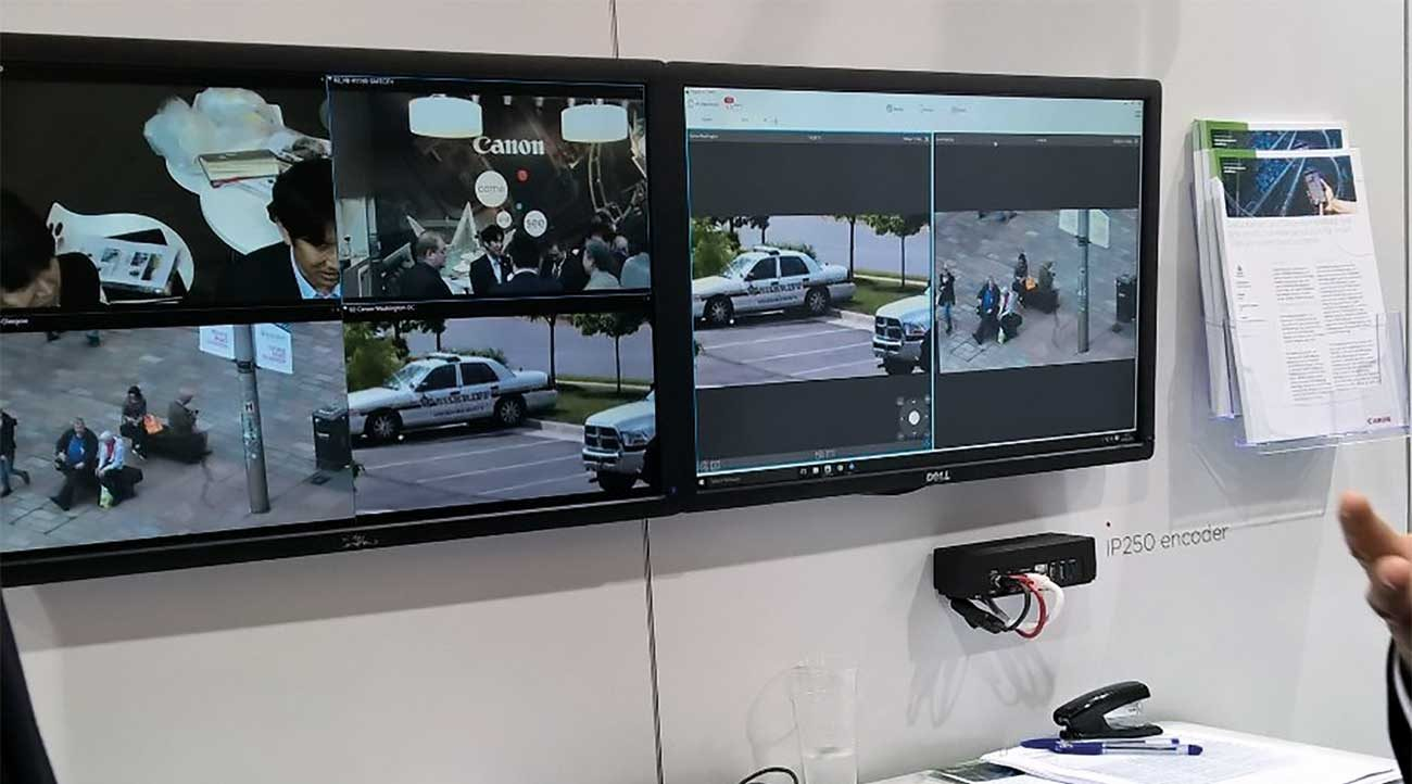 Digital Barriers demonstrating EdgeVis Wireless Video Streaming Technology at IFSEC 2016.
