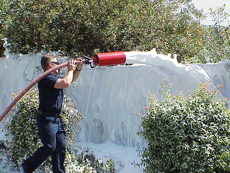 Using high quality Class A foams, firefighters can create temporary protective blankets of protection on homes, vegetation and other surfaces, improving firefighter safety by giving them additional time to focus on active parts of the fire.
