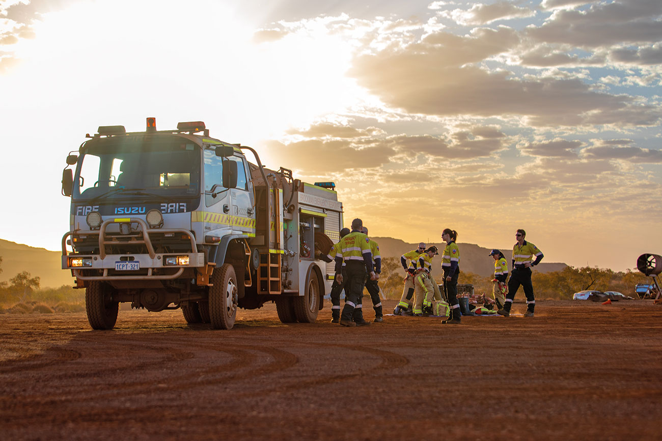 Rio Tinto Emergency Response Team donning PPE.